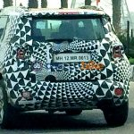 Jeep Renegade rear spied testing in India