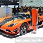 Koenigsegg Agera Final One of 1 front quarter at 2016 Geneva Motor Show