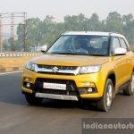 Maruti Vitara Brezza front quarter dynamic First Drive Review