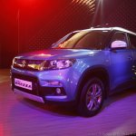 Maruti Vitara Brezza front three quarter blue launched