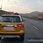 Maruti Vitara Brezza rear far First Drive Review