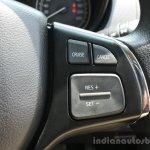 Maruti Vitara Brezza steering right spoke First Drive Review