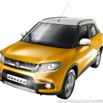 Maruti Vitara Brezza yellow close press image