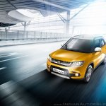Maruti Vitara Brezza yellow front quarter press image