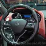 Maserati Levante steering wheel at the 2016 Geneva Motor Show Live