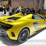 McLaren 675LT Spider rear quarter at 2016 Geneva Motor Show