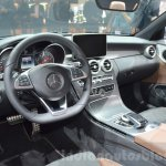 Mercedes C-Class Cabriolet dashboard at the 2016 Geneva Motor Show