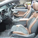 Mercedes C-Class Cabriolet front seats at the 2016 Geneva Motor Show