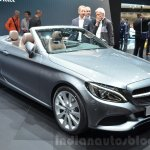 Mercedes C-Class Cabriolet front three quarter view at the 2016 Geneva Motor Show