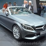 Mercedes C-Class Cabriolet front three quarters at the 2016 Geneva Motor Show