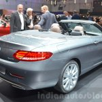 Mercedes C-Class Cabriolet rear three quarters at the 2016 Geneva Motor Show