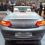 Mercedes C-Class Cabriolet rear view at the 2016 Geneva Motor Show