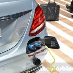 Mercedes E-Class E 350e plug at the 2016 Geneva Motor Show