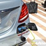 Mercedes E-Class E 350e plug at the 2016 Geneva Motor Show