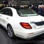 Mercedes E-Class E 350e rear three quarters at the 2016 Geneva Motor Show
