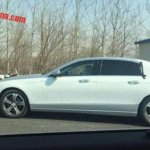 Mercedes E Class LWB (E Class Maybach) side spotted with less camouflage