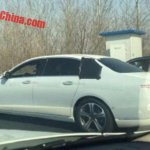 Mercedes E Class Maybach side spotted with less camouflage