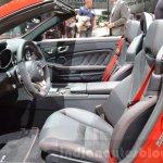 Mercedes SLC 43 AMG front seats at the 2016 Geneva Motor Show