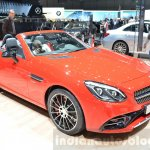 Mercedes SLC 43 AMG front three quarters at the 2016 Geneva Motor Show