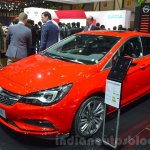 Opel Astra front three quarters at the 2016 Geneva Motor Show