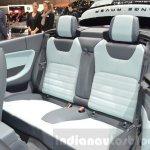 Range Rover Evoque Convertible rear seating at the 2016 Geneva Motor Show