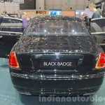 Rolls Royce Ghost Black Badge Edition rear at 2016 Geneva Motor Show