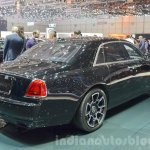 Rolls Royce Ghost Black Badge Edition rear quarter at 2016 Geneva Motor Show