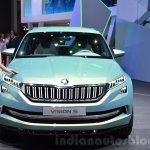 Skoda VisionS SUV concept front at the 2016 Geneva Motor Show
