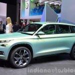 Skoda VisionS SUV concept front three quarter at the 2016 Geneva Motor Show