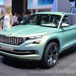Skoda VisionS SUV concept headlamp, grille, bumper at the 2016 Geneva Motor Show