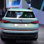 Skoda VisionS SUV concept rear at the 2016 Geneva Motor Show