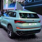 Skoda VisionS SUV concept rear quarter at the 2016 Geneva Motor Show