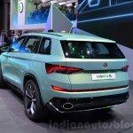 Skoda VisionS SUV concept rear quarter at the 2016 Geneva Motor Show