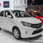 Suzuki (Maruti) Celerio with body kit front three quarter at the 2016 BIMS