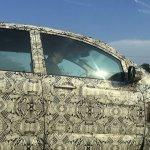 Tata Hexa camouflaged prototype doors spied