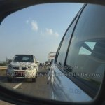 Tata Hexa camouflaged prototype front spied