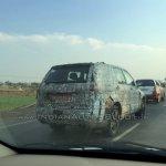 Tata Hexa camouflaged prototype rear quarter spied