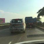 Tata Hexa camouflaged prototype rear spied