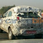 Tata Nexon rear spied camouflaged