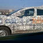 Tata Nexon side spied camouflaged