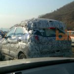 Tata Nexon tail lights spied camouflaged