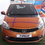 Tata Tiago front at dealership