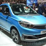 Tata Tiago front three quarters at Geneva Motor Show 2016