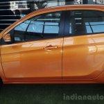 Tata Tiago orange at dealership