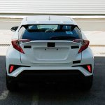 Toyota C-HR rear end spied post debut