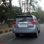 Toyota Innova Crysta rear spotted on Indian roads