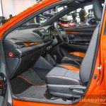 Toyota Yaris TRD Sportivo front seat at 2016 BIMS