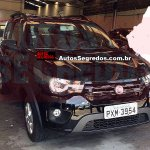 Undisguised Fiat Mobi Way front photographed up close