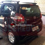 Undisguised Fiat Mobi Way rear photographed up close