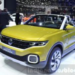 VW T-Cross Breeze concept front three quarter at the Geneva Motor Show Live